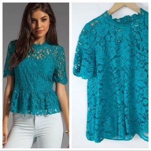Anthropologie HD in Paris Lace Blouse Size 10